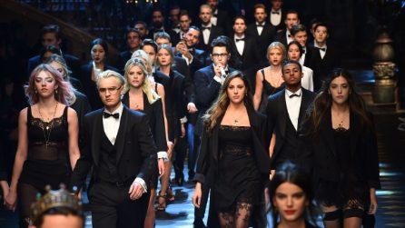 Rafferty Law, Presley Gerber e le sorelle Stallone: i Millenials sfilano per Dolce&Gabbana