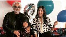 Elisabetta Gregoraci e Flavio Briatore con il figlio Nathan Falco