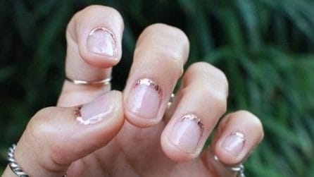 Embellished cuticles manicure