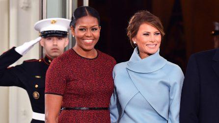 Il look di Melania Trump all'Inauguration Day