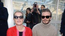 David Beckham e Kate Moss insieme alla Paris Fashion Week