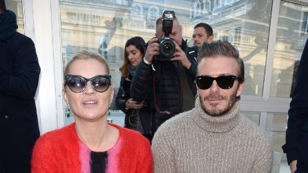 David Beckham e Kate Moss insieme alla Paris Fashion Week