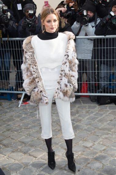 Olivia Palermo arriva alla sfilata di Dior