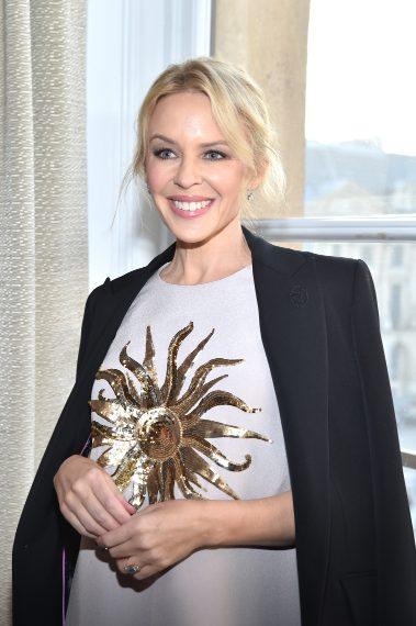 Kylie Minogue alla sfilata di Schiaparelli