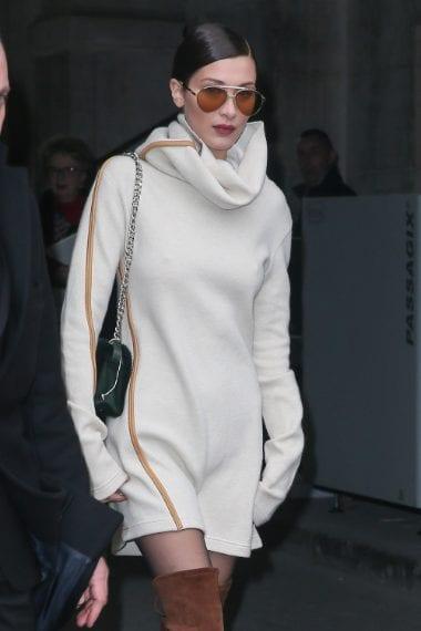 Bella Hadid all'uscita dello show di Chanel