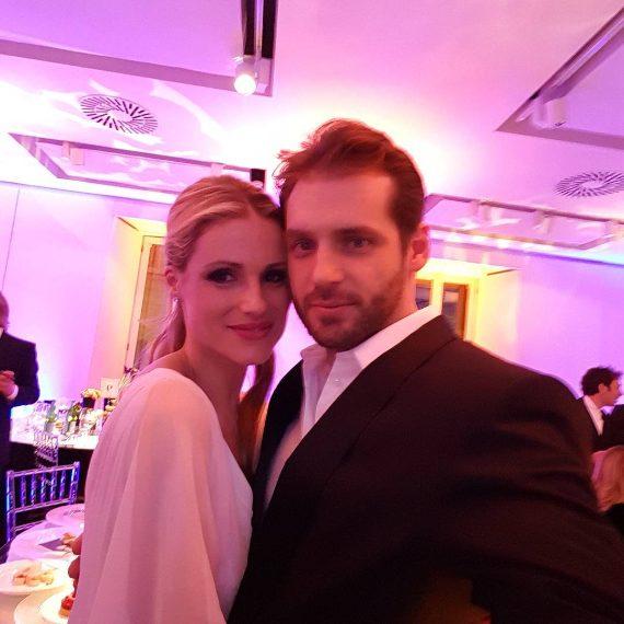 Michelle con il marito Tomaso Trussardi