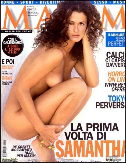 Samantha posa per Maxim nel 2002