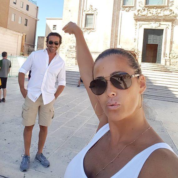 Samantha con il marito Luca