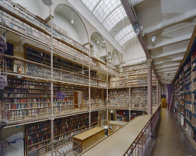 La Biblioteca Rijksmuseum è la più grande biblioteca di storia dell'arte nei Paesi Bassi e si trova a Amsterdam. La sala lettura, recentemente ristrutturata, offre livelli multipli di librerie con balconi in ferro battuto e scale a chiocciola.