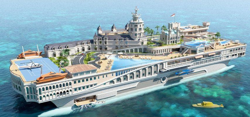 Il progetto di questo yacht si ispira tutto sul principato del Mediterraneo, famoso per il circuito del Gran Premio. L'idea è quella di ricreare sullo yacht il circuito della pista di formula 1 ma per i kart.
