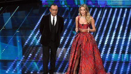 Il look di Diletta Leotta alla prima serata di Sanremo 2017