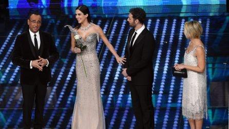 """Rocío Muñoz Morales e la scollatura alla """"Maleficent"""" sfoggiata a Sanremo"""