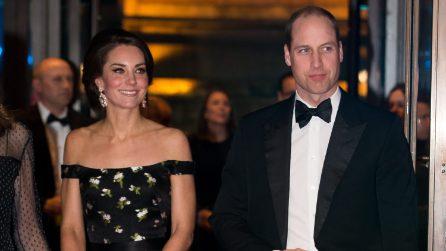 William d'inghilterra e Kate Middleton ai BAFTA 2017
