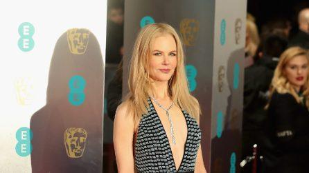 La scollatura hot sfoggiata da Nicole Kidman ai Bafta 2017