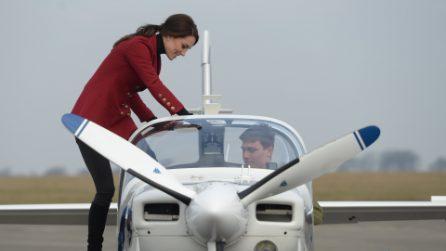Il look da aviatrice di Kate Middleton