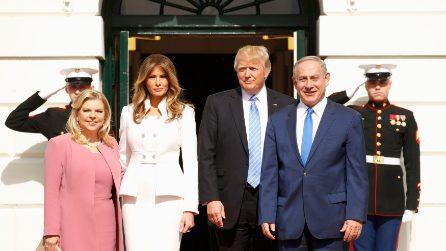 L'esordio di Melania Trump alla Casa Bianca