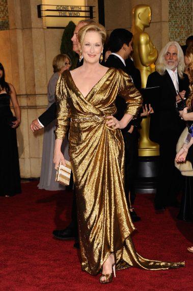 Ha vinto il premio come miglior attrice ma l'abito è stato molto criticato perché simile all'involucro di un Ferrero Rocher
