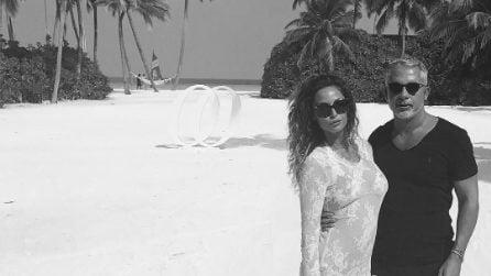 Raffaella Fico alle Maldive con Alessandro Moggi