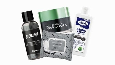 I cosmetici a base di carbone vegetale