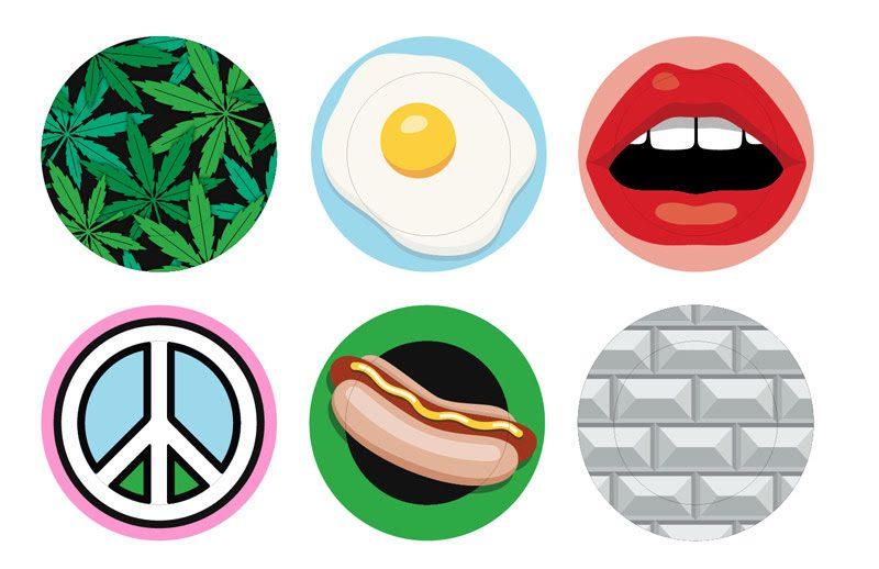 """Seletti presenta BLOW, non solo una collezione di oggetti, ma un vero e proprio design brand, creato dal duo di designer irriverenti Job Smeets e Nynke Tynagel: """"un progetto che punta a quell'idea di design democratico che da sempre contraddistingue Seletti"""". Weed, Egg, Mouth, Peace, Hot Dog, The Wall è la serie di piatti che fanno parte della collezione."""