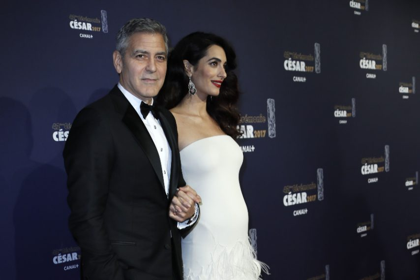 Amal in Versace Couture