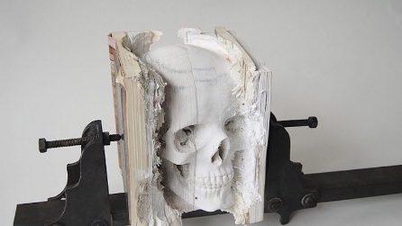30 opere d'arte ricavate da vecchi libri