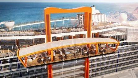 La nuova nave da crociera Celebrity Edge: sembra un tappeto volante