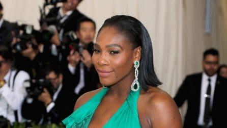 Serena Williams con il pancione al Met Gala 2017