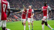 Europa League, le immagini di Ajax-Lione