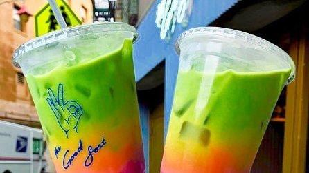 La nuova bevanda social? Il latte color arcobaleno