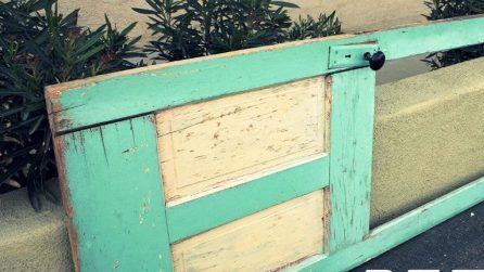 Sembra solo una vecchia porta sporca: il modo in cui viene trasformata è eccezionale