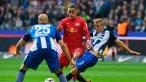 Bundesliga, Hertha Berlino-RB Lipsia 1-4