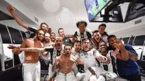 Juventus in finale di Champions, la gioia dei calciatori