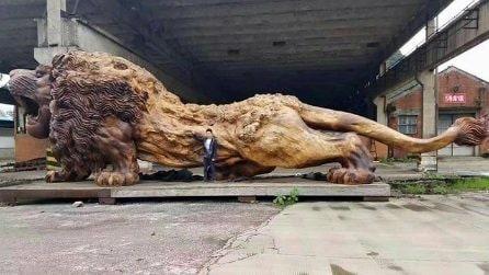 Ecco la scultura di legno più grande del mondo