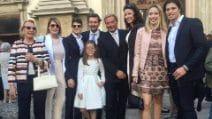 La cresima di Caterina, la figlia di Simona Ventura