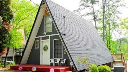 Un'insolita casetta a forma di triangolo: gli interni vi lasceranno a bocca aperta