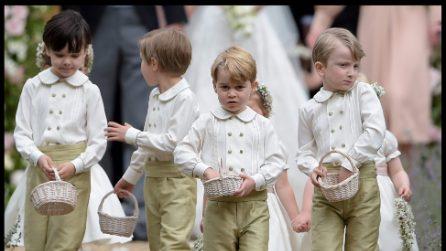 I look dei principini George e Charlotte al matrimonio di Pippa Middleton