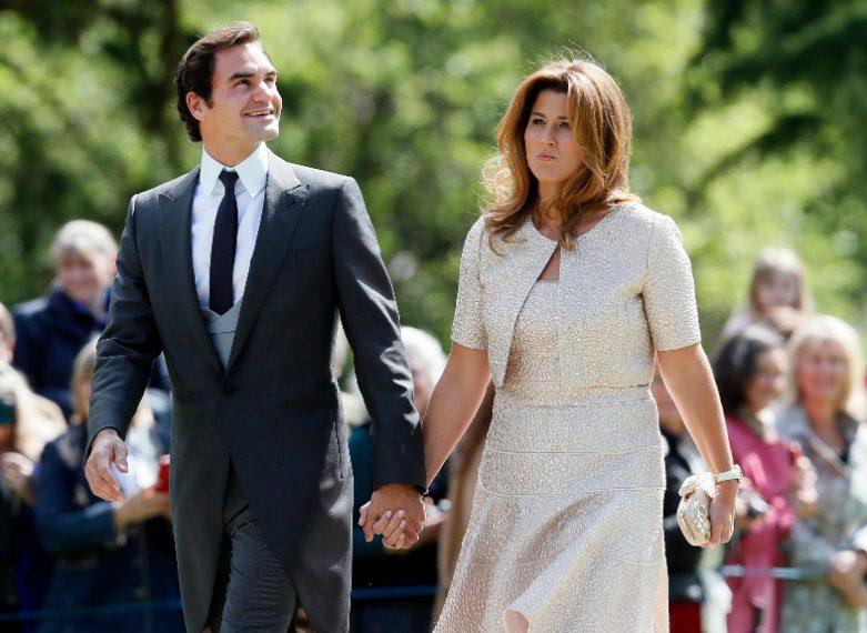 Roger Federer e sua moglie Mirka
