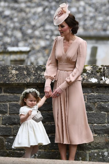 Kate Middleton con Charlotte