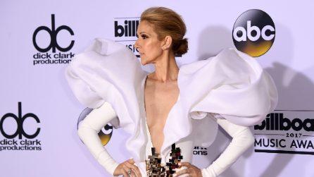 L'abito scultoreo di Celine Dion ai Billboard 2017