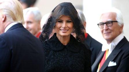 Melania Trump arriva a Roma
