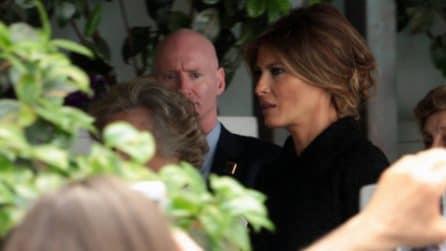Melania Trump visita l'ospedale Bambino Gesù