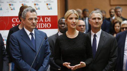 Roma, Ivanka Trump visita la Comunità di Sant'Egidio