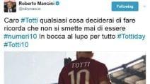 Tutti con Totti: onore e omaggi al Re di Roma sui social