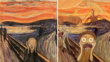 I quadri famosi diventano cartoni animati: l'arte di Lothlenan