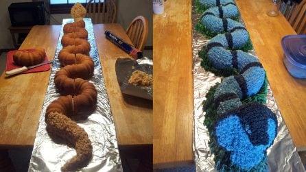 Come realizzare la torta a forma di serpente
