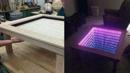 Non è un semplice tavolino: al termine della lavorazione non crederai a cosa ha creato per il soggiorno