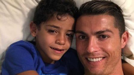 Ronaldo e il figlio Cristiano Jr.