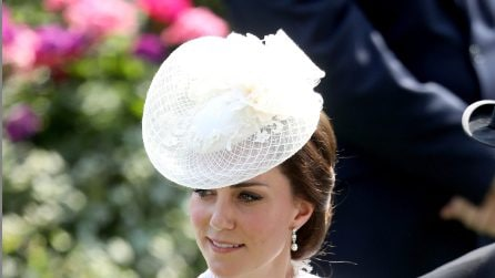 Kate Middleton in total white al Royal Ascot