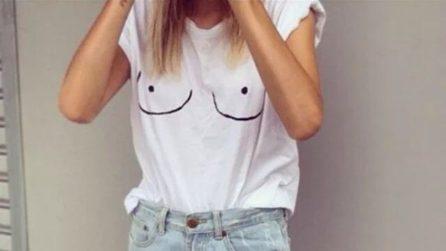 T-shirt con seno e capezzoli: il nuovo trend dell'estate